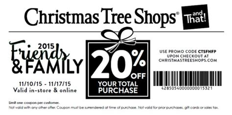 christmas tree shops coupons printable coupons