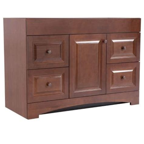Vanity Cabinet Only by Glacier Bay Regency 48 In Vanity Cabinet Only In Auburn