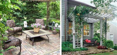 small brick patio ideas small patio pergola