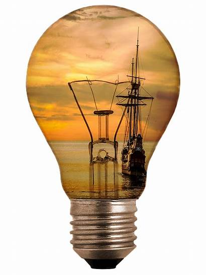 Bulb Sunset Ampoule Pixabay Navire Mer Segelboot