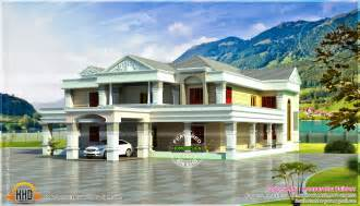 Luxury House Plans With Photos Pictures by 6 Bhk Luxury Home Elevation Kerala Home Design And