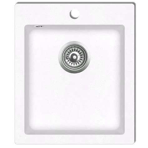 single basin kitchen sink plumbing overmount kitchen sink single basin granite white