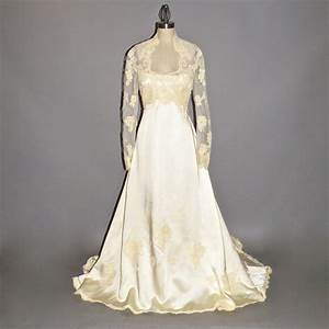 1970s wedding dress priscilla of boston wedding gown satin With 1970 wedding dresses