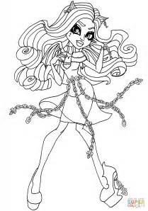 haunted rochelle goyle coloring page  printable coloring pages