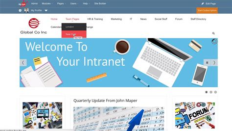 Intranet Home Page : Engaging Staff, Increasing Intranet Use