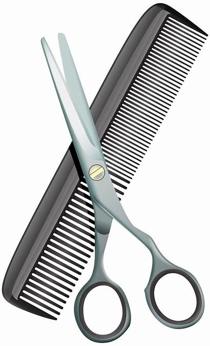 Comb Scissors Clip Clipart Barber Hairdresser Shears