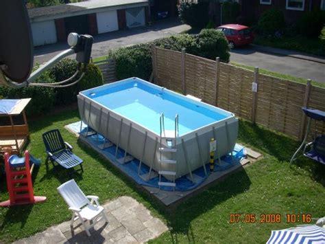 pool aufbauen untergrund untergrund frame pool untergrund bei intex ultra frame