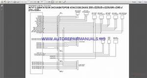 Hitachi Zaxis 200-240-270-330-3 Circuit Wiring Diagram Manual