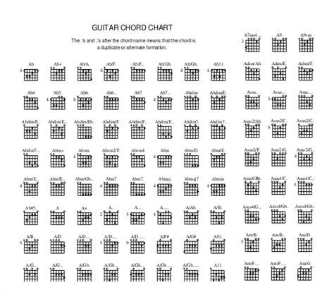 chord template pdf guitar chord chart templates 12 free word pdf