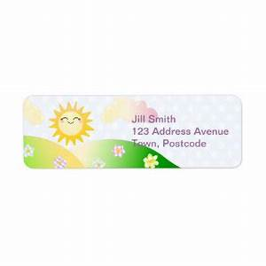 cute shipping address return address labels zazzle With cute mailing labels