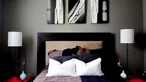 Neutral, Black, and White Bedroom with Pops of Color ...