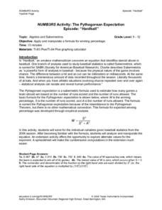 numb3rs activity the pythagorean expectation lesson plan