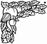 Coloring September Harvest Pages Printable Halloween Seasons Borders Vegetables Border Clipart Clip Harvesting Autumn Harvested Fall Print Crops Drawing Clipartpanda sketch template