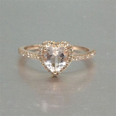 mm morganite engagement ring rose golddiamond wedding