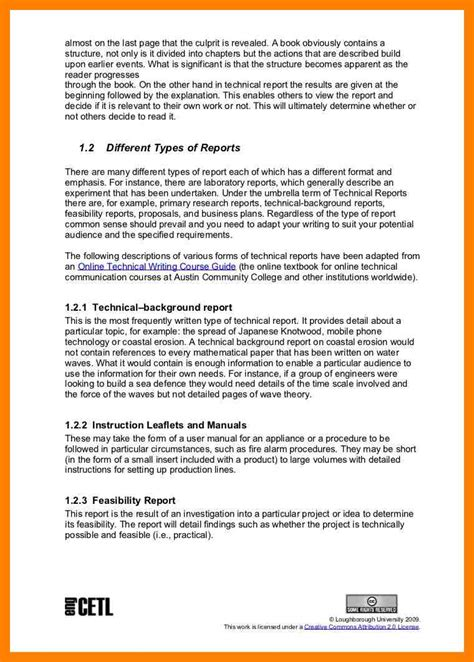 sample technical report writing format