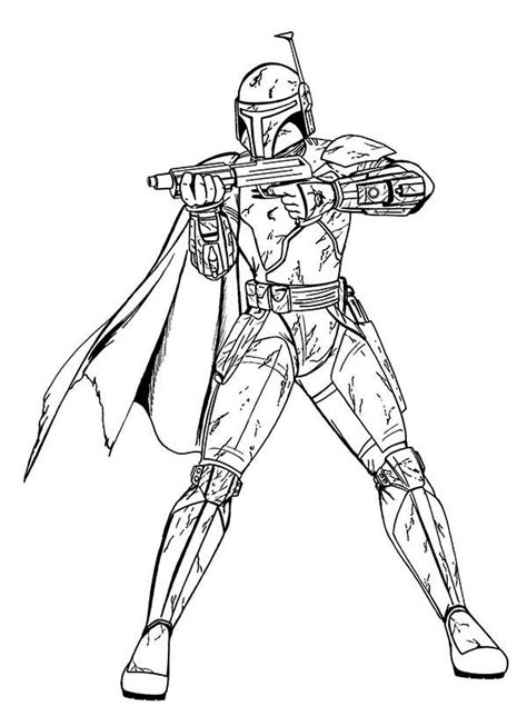 boba fett  star wars coloring page  print  coloring pages   color