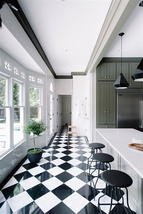 checkered kitchen floor green small kitchen remodel inspo cococozy 2131