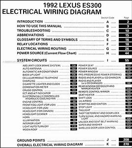 1992 Lexus Es 300 Wiring Diagram Manual Original