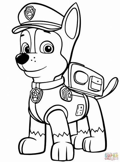 Patrol Chase Kolorowanki Psi Paw Coloring Colouring