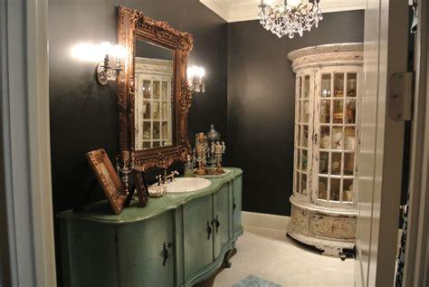 Vintage Bathroom Vanity Cabinet by Black Bathroom With Vintage Vanity And Cabinet