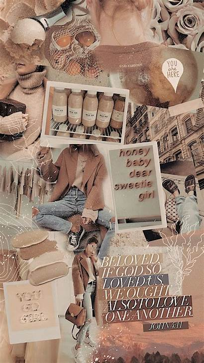 Beige Aesthetic Collage Wallpapers