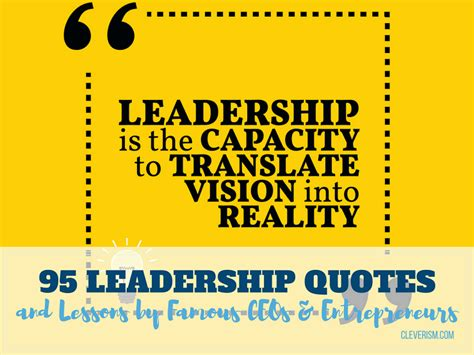 leadership quotes  lessons  famous ceos