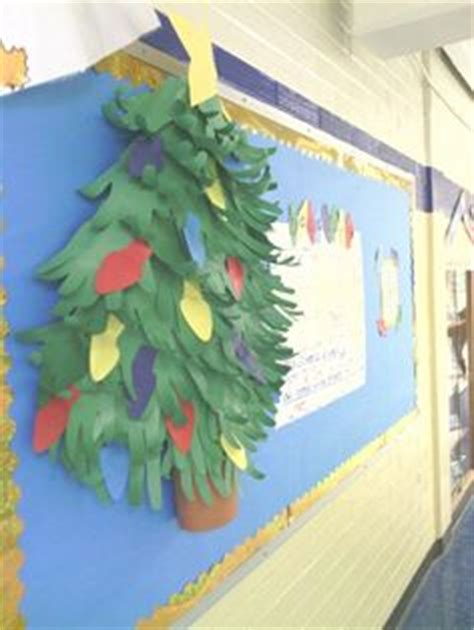 paper christmas tree bulletin board tree door decoration made with butcher paper cool for school trees