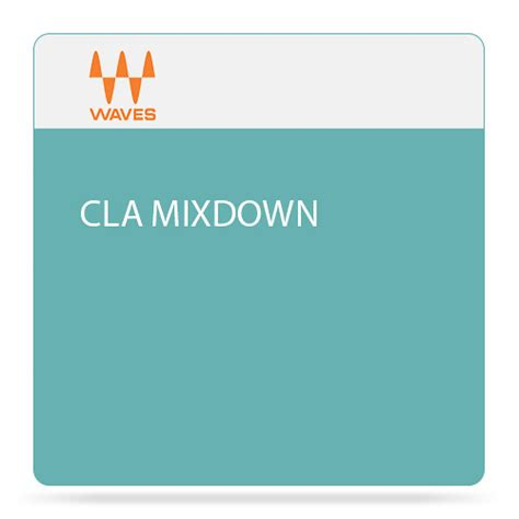 Waves CLA MixDown - Audio Software for Mix-Buss Processing ...