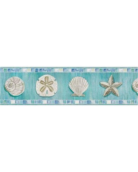 on sale now 32 off ocean mosaic seashell wallpaper border