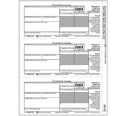 irs tax forms  cap shareholder copy   shipping