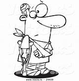 Coloring Bandages Prone Accident Cartoon Injury Outlined Crutch Toonaday Medical Template Vecto sketch template