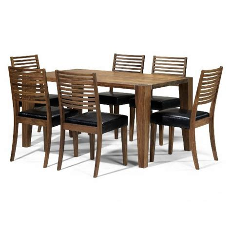 dining table set 6 seater opus solid walnut 6 seater dining set 5459 furniture in