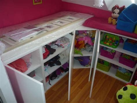 ikea tablette cuisine un lit enfant avec du rangement à base de meubles de