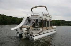 double decker pontoon boat with a slide almost like ours