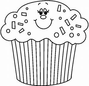 Birthday Cupcake Clipart Black And White | Clipart Panda ...