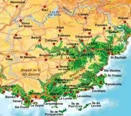 ville de faience dans le var map of var provence provence web