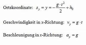 Wurf Berechnen : einen waagerechten wurf berechnen ~ Themetempest.com Abrechnung