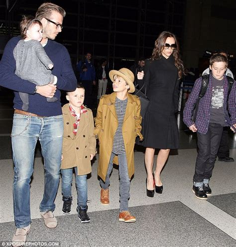 David and Victoria Beckham's fury as Christmas card of ...