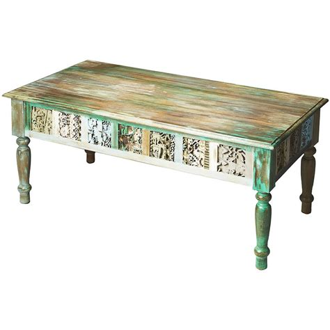 hand painted coffee table distressed hand painted coffee table from timberwolf bay