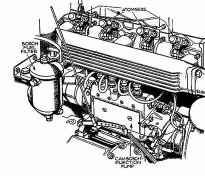 Coloring Diesel Engine Pages Parts Truck Drawing