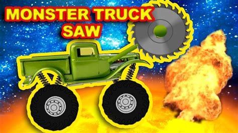 youtube monster truck show monster truck saw vs ufo destroyer show monster trucks