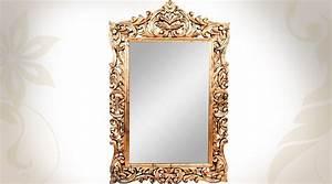 Miroir Doré Rectangulaire : grand miroir baroque dor antique 109 cm ~ Teatrodelosmanantiales.com Idées de Décoration