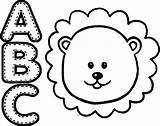 Lion Coloring Animal Abc Wecoloringpage Clipartmag sketch template