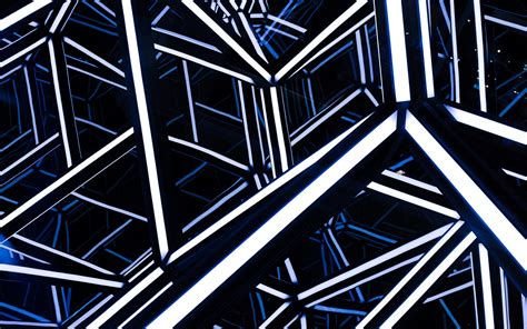 wallpaper modern architecture neon hd abstract