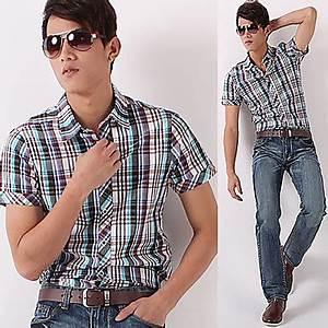 Camisas de Cuello Corto para Hombres