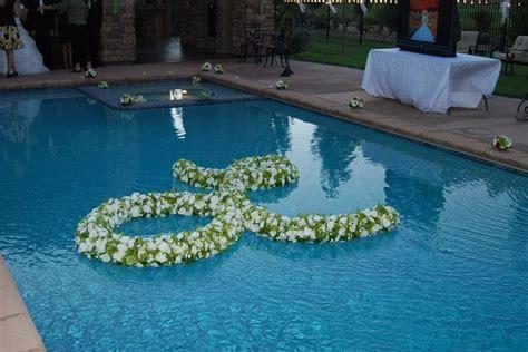 floating monogram erica jo wedding pool wedding
