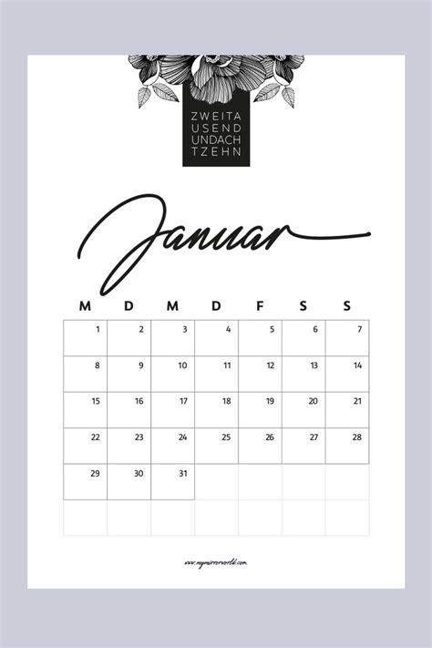 meine kalender  zum ausdrucken fuer dich kalender