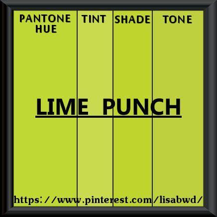 pantone seasonal color swatch lime punch color thesaurus