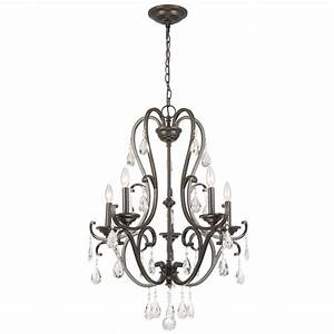 Hampton bay light oil rubbed bronze chandelier with