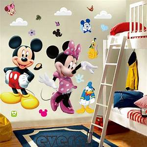 mickey mouse minnie vinyl mural wall sticker decals kids With kitchen cabinets lowes with mickey and minnie mouse stickers